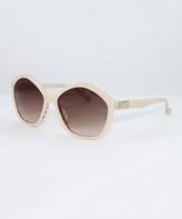 Calvin Klein Cord & Brown Gradient Round Sunglasses - Women