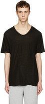 Alexander Wang Black Silk-Blend T-Shirt