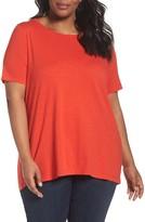 Eileen Fisher Plus Size Women's Organic Cotton Tee