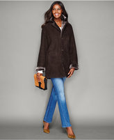 The Fur Vault Shearling Lamb Button-Front Coat