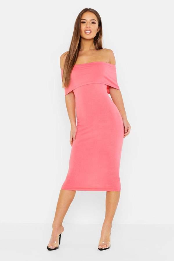 44e4c3fb1a86 boohoo Orange Midi Dresses - ShopStyle UK