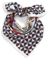 Tory Burch Women's Geo Print Square Silk Scarf