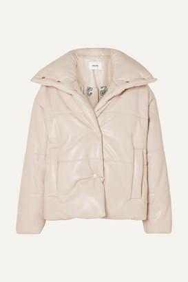 Nanushka Quilted Vegan Leather Jacket - Ecru