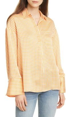 Club Monaco Gingham Popover Pocket Shirt