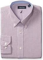 Nautica Men's Check Buttondown Collar Dress Shirt