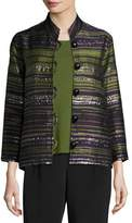 Caroline Rose Romancing The Stone Jacquard Jacket, Plus Size