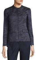 Lafayette 148 New York Jaylan Seacliff Novelty Zip-Front Jacket, Multi Pattern