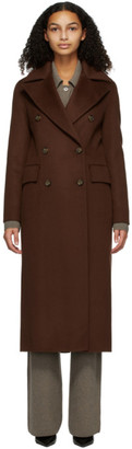 Nanushka Burgundy Wool Lana Coat