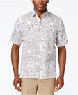 tasso elba mens linen classic fit print shortsleeve shirt only at macys
