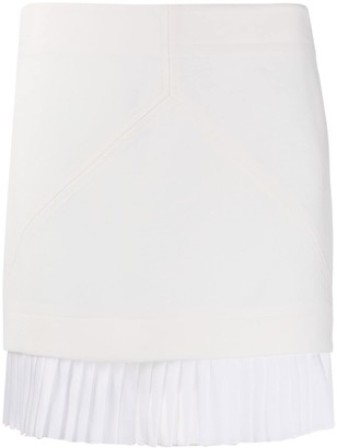 Courreges Pleated-Hem Short Skirt