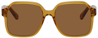 Chloé Brown Acetate Square Sunglasses