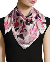 Roberto Cavalli Printed Silk Scarf, Rose