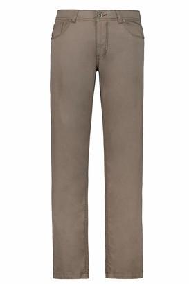 JP 1880 Men's Big & Tall 5-Pocket Colored Stretch Jeans Khaki 52 717157 44-52