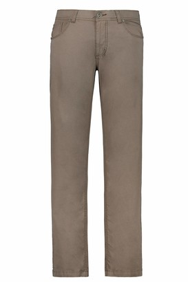 JP 1880 Men's Big & Tall 5-Pocket Colored Stretch Jeans Khaki 62 717157 44-62