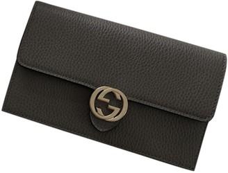 Gucci Interlocking Grey Leather Handbags