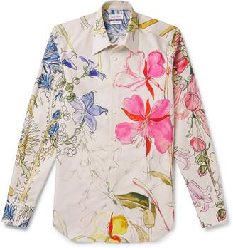 Alexander McQueen Slim-Fit Floral-Print Cotton-Poplin Shirt