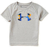 Under Armour Little Boys 2T-7 Geometric-Big-Logo Short-Sleeve Tee