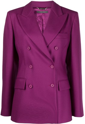Alberta Ferretti Double-Breasted Blazer Jacket