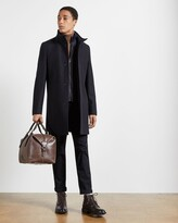 Thumbnail for your product : Ted Baker Wool Funnel Neck Coat