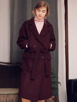 Wardrobe 4 Pocket Overfit Coat_wine