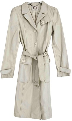 Non Signé / Unsigned Non Signe / Unsigned White Leather Trench Coat for Women