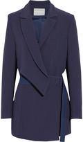 Richard Nicoll Wrap-effect crepe blazer