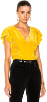 Altuzarra Nicolle Blouse in Yellow.