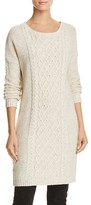 BB Dakota Macey Speckled Cable Knit Sweater Dress