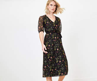 Oasis Floral Lace Midi Dress