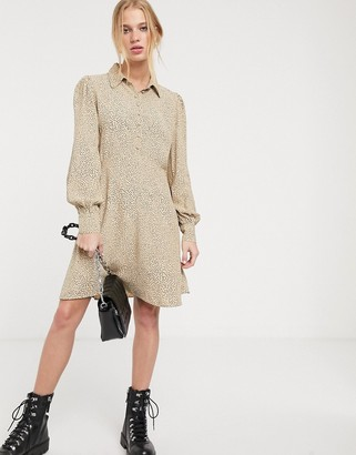 And other stories & dot print shirt dress in beige