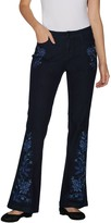 G.I.L.I. Got It Love It G.I.L.I. Petite Flare Leg Jean with Embroidery