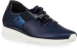 Sesto Meucci Corie Mixed Leather Comfort Sneakers, Navy