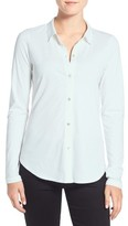 Eileen Fisher Women's Organic Cotton Jersey Classic Collar Shirt