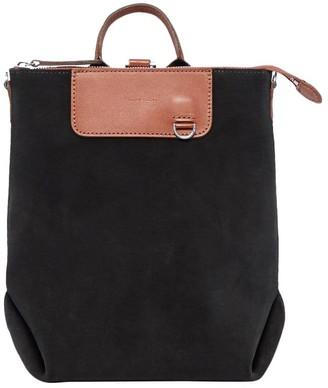 Graf Lantz Black Mini Suede Bedford Backpack