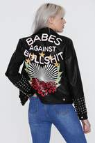 Nasty Gal x Jaydee Blanca Vegan Leather Moto Jacket