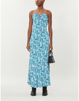 Free People Bon Voyage floral-print woven midi dress