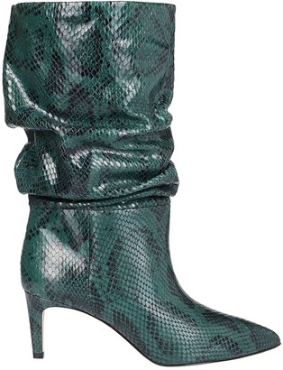 Paris Texas Green Leather Boots