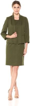 Le Suit LeSuit Women's Novelty Fly Away Jacket with Sheath Dress