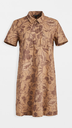 James Perse Tropical Print Shirt Dress