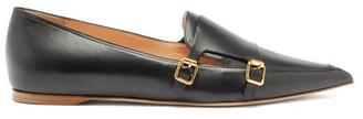 Rupert Sanderson Niwin Point-toe Leather Monk Shoes - Black