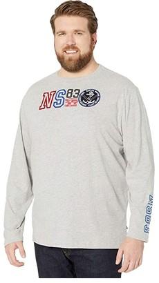 Nautica Big Tall NS83 Direct Print (Grey Heather) Men's T Shirt