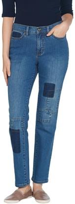 Denim & Co. Studio by Classic Denim Shadow Patch Ankle Jeans