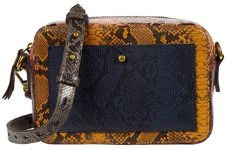 Madewell The Transport Camera Bag in Color-Block Snake (Rusted Tin Multi) Handbags