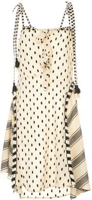 Dodo Bar Or Polka-Dot Midi Dress With Knots