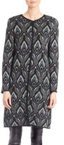 M Missoni Collarless Jacquard Coat
