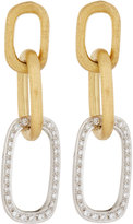 Marco Bicego Jaipur Link 18k Pave Diamond Drop Earrings