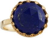 Lana 14k Splash Circle Lapis Ring, Size 7