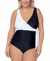 Thumbnail for your product : Raisins Curve Trendy Plus Size Colorblocked One-Piece Swimsuit Women's Swimsuit