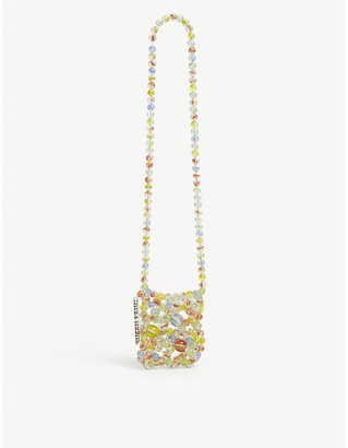 Susan Fang Bubble beaded cross-body passport bag
