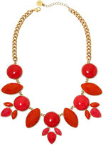 Liz Claiborne Coral Stones Gold-Tone Drama Collar Necklace